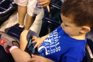 Toddlers at sporting events