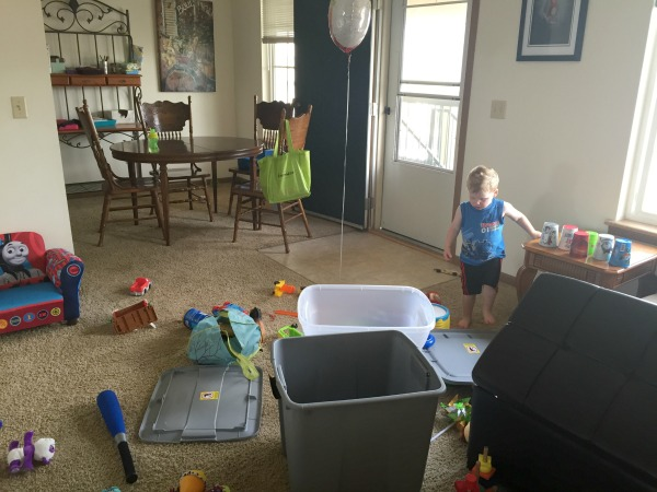 keeping a tidy house with a little one