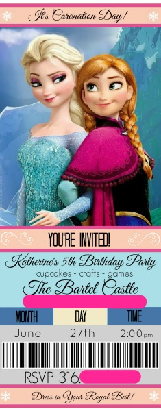Frozen Invitaiton