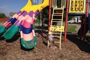 park crawl rainbow slide park