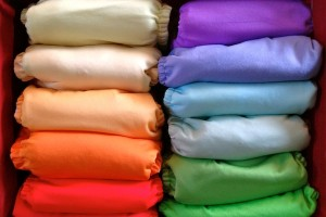 cloth diapers organized