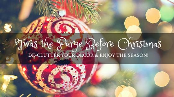 declutter christmas decorations