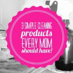 3 Simple Cleaning Products Every Mom Should Have!