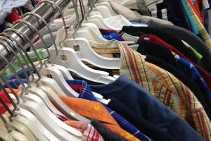 thrifting kids clothing rack