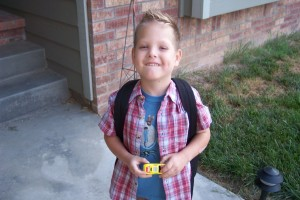 Dylan First Day of School