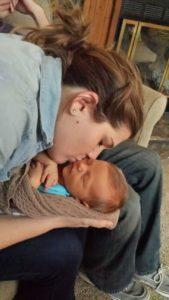 newborn stage oogling baby