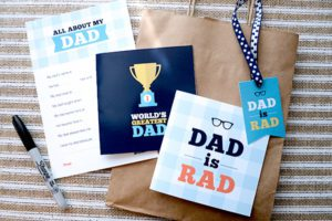 free fathers day printables flat lay