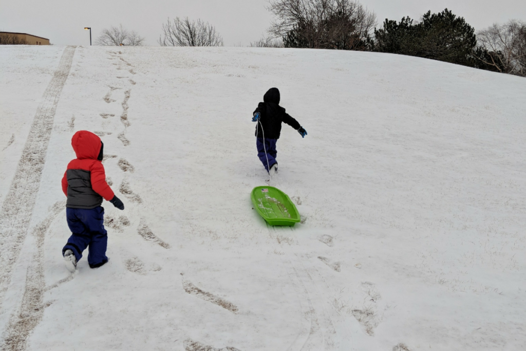 wichita sled sledding hills