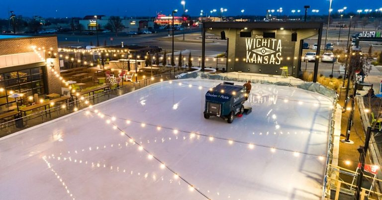 Wichita's Outdoor Ice Skating Rink is Open | Chicken N Pickle Ice Pond