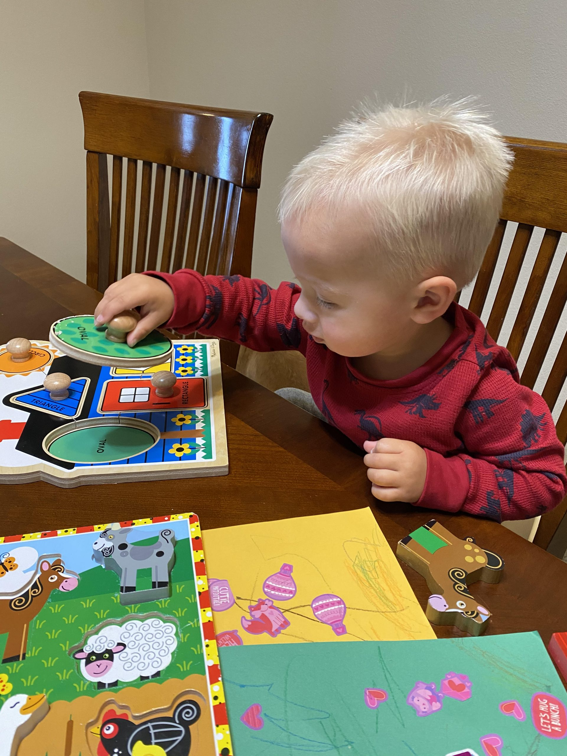 Toddler with Puzzles